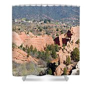 Stone Quarry At Red Rock Canyon Open Space Park Shower Curtain