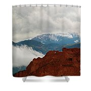 Storm Brewing At Garden Of The Gods Shower Curtain