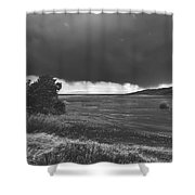 Storm Brewing Over The Mud Flats Shower Curtain
