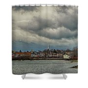 Storm Clouds Over The Bass River Shower Curtain