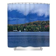 Storm Clouds Over The Lake Of Bays Shower Curtain