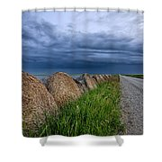 Storm Clouds Prairie Sky Shower Curtain