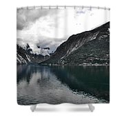 Storm In The Fiord Shower Curtain