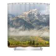 Storm On Grand Teton Shower Curtain