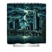 Storm Over Frankfurt Shower Curtain