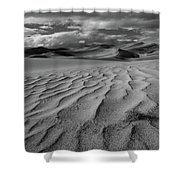 Storm Over Sand Dunes Shower Curtain