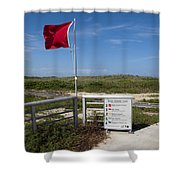 Storm Warning On The Atlantic Ocean In Florida Shower Curtain