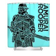 Stormtrooper - Star Wars Art - Blue Shower Curtain