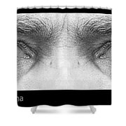 Stormy Angry Eyes Shower Curtain
