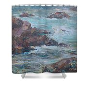 Stormy Sea Seascape Shower Curtain