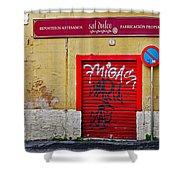 Street Art In Palma Majorca Spain Shower Curtain