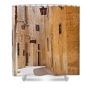 Street Sceane Mdina,malta Shower Curtain