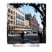 Streets Of Puebla 5 Shower Curtain