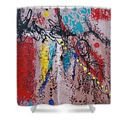 Stringed Abstract Shower Curtain