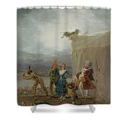 Strolling Players Shower Curtain