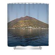 Stromboli Volcano, Aeolian Islands Shower Curtain