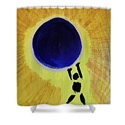 Stronger Than The World On My Shoulders Shower Curtain