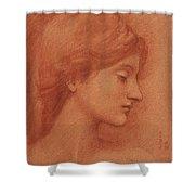Study Of A Female Head Shower Curtain