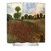 Study Of Monet Shower Curtain