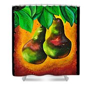Study Of Two Pears Shower Curtain