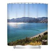 Stunning Hawea Lake In New Zealand Shower Curtain