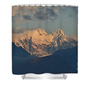 Stunning Landscape In The Italian Alps With A Cloudy Sky  Shower Curtain