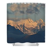 Stunning Landscape View Of The Italian Alps  Shower Curtain