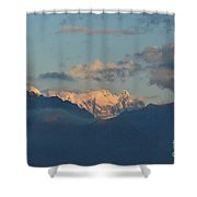 Stunning Scenic View Of The Dolomites Mountains In Italy  Shower Curtain