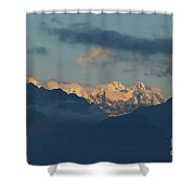 Stunning View Of The Pretty Dolomite Mountains In The Alps Of It Shower Curtain