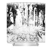Sumie Landscape Shower Curtain
