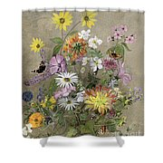Summer Flowers Shower Curtain