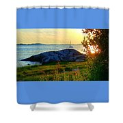 Summer Sunset View Shower Curtain