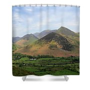 Summer, The Newlands Valley, Lake District National Park Shower Curtain