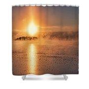 Sun Pillar Shower Curtain