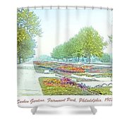 Sunken Gardens Fairmount Park Philadelphia 1907 Shower Curtain