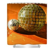 Sunlit Spheres Shower Curtain
