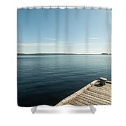 Sunny Day At The Dock Shower Curtain