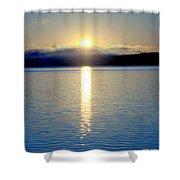 Sunrise 6 8 17 Malletts Bay Shower Curtain