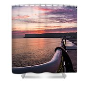 Sunrise At Saltburn Pier Shower Curtain
