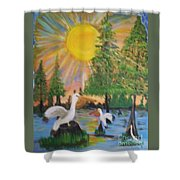 Sunrise In The Pelican State Shower Curtain