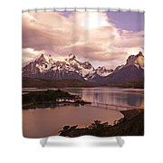 Sunrise In Torres Del Paine Shower Curtain