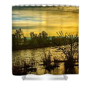 Sunrise On The Payette River Shower Curtain