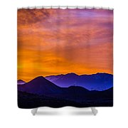 Sunrise Over Colorado Rocky Mountains Shower Curtain