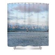 Sunrise Over New York City Shower Curtain