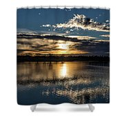 Sunrise Reflections On The Great Plains Shower Curtain