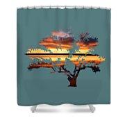 Sunrise Tree Shower Curtain
