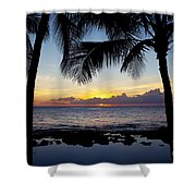 Sunset - Oahu West Shore Shower Curtain