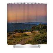 Sunset Above Craigs Hut  In The Victorian Alps, Australia Shower Curtain