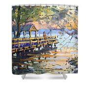 Sunset At Fishermans Park Shower Curtain