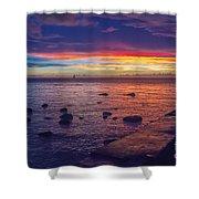 Sunset At Mauritius Shower Curtain